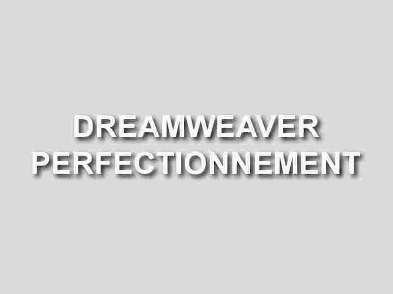 formation dreamweaver perfectionnement
